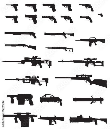 Fotografía  big weapons silhouette pack