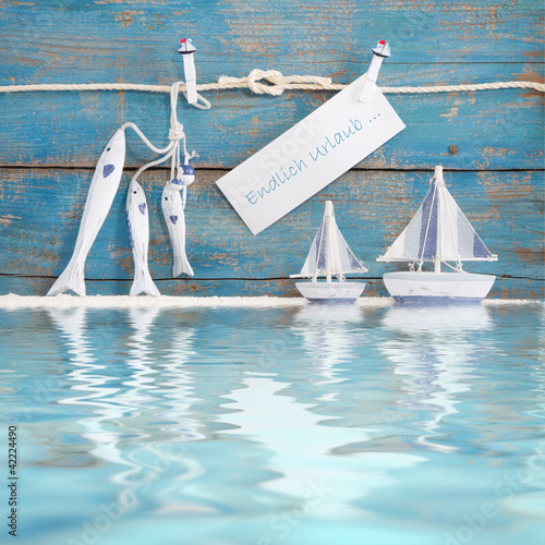 Foto Rollo Basic - Endlich Urlaub - Konzept Ferien