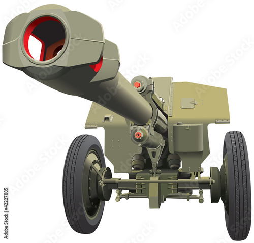 Photo sur Aluminium Militaire large old gun