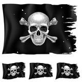 Three types of pirate flag