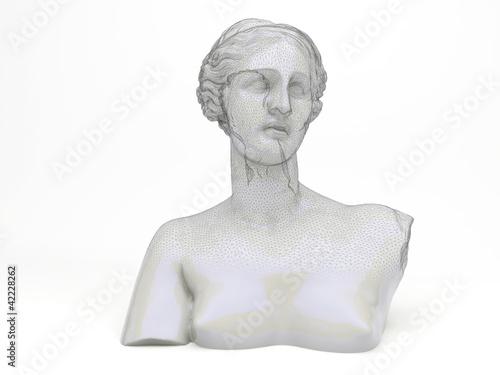 Photo  Venere volto femminile scultura