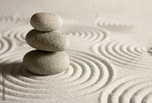 Photo Stands Stones in Sand Balance