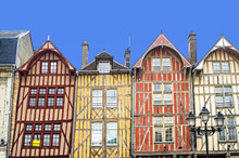 Troyes, Colorful Half-timbered Houses