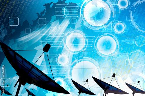 Fotografía  Satellite dish transmission data