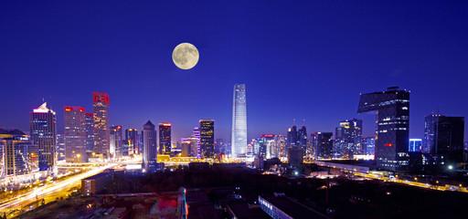 Fototapeta central business of district in beijing