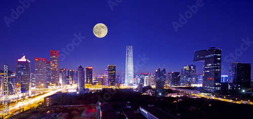 Photo sur Aluminium Pekin central business of district in beijing