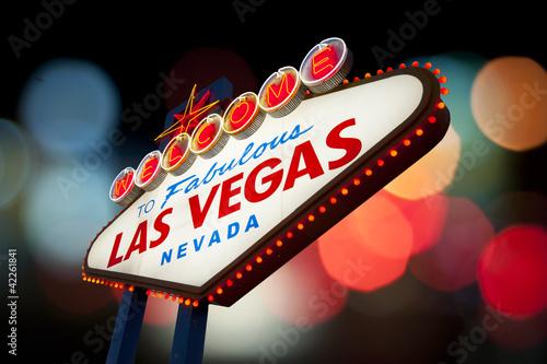 Foto op Aluminium Las Vegas Welcome to Las Vegas Sign.