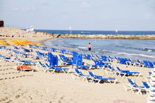 Beach Mediterranean Sea Jaffa Tel-aviv Israel