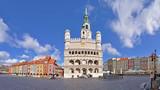 Fototapeta Miasto - Market square, Poznan, Poland - Stitched Panorama