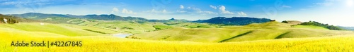 Aluminium Prints Melon Tuscany Countryside Panoramic Photo