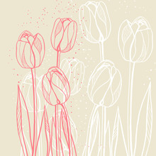 Abstract Floral Illustration W...