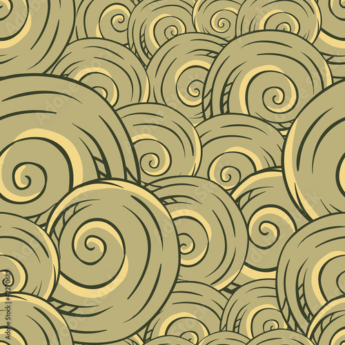 Seamless hand drawn texture of shells. Vector Illustration. © incomible