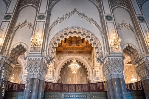 Hassan II Mosque interior arc Casablanca Morocco