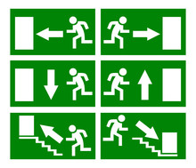 Vector Emergency Exit Signs
