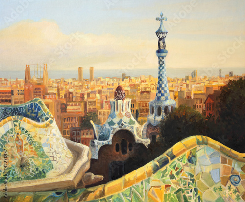 Papiers peints Barcelona Barcelona Park Guell