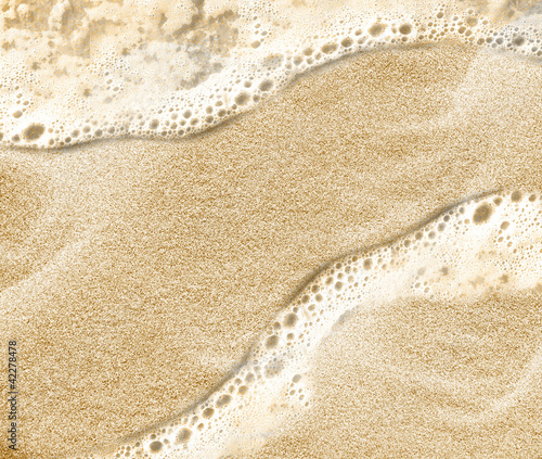 Fotobehang Macrofotografie Sand beach water background