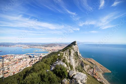 Fototapeta  Gibraltar Rock Bay and Town