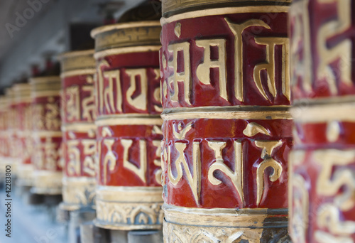 Prayer wheels, Nepal Fototapeta