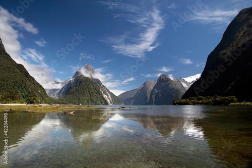 Staande foto Nieuw Zeeland Milford Sound in Neuseeland