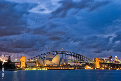 Photo Stands Sydney Sydney Harbour Twilight