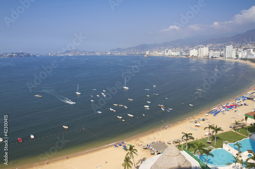Acapulco bay Mexico Canvas Print