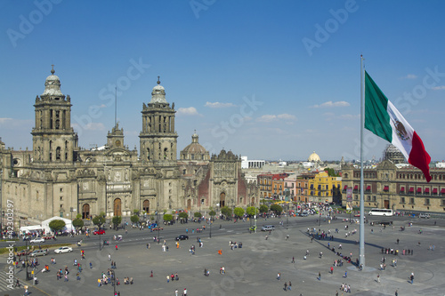 Foto op Canvas Mexico zocalo in mexico city