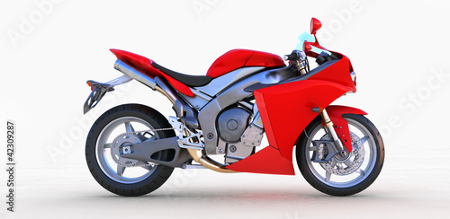 Poster Motocyclette Red