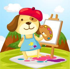 Umjetničko slikanje pasa