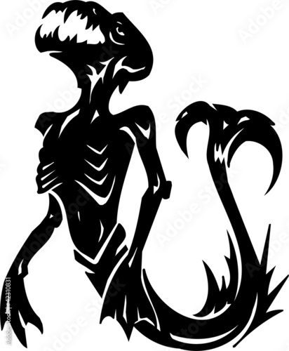 Water Monster - vector illustration. All vinyl-ready. Wallpaper Mural
