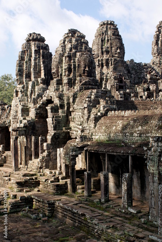 фотография  Ancient Bayon temple in Angkor , Cambodia