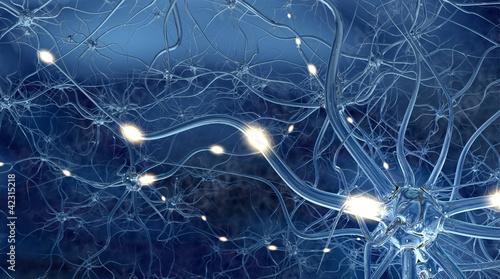 Reizweiterleitung in den Nervenzellen Wallpaper Mural