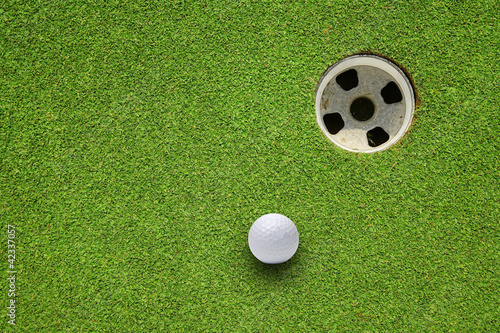 Poster Golf golf hole on a field