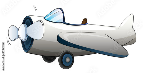 Fotobehang Vliegtuigen, ballon Illustration of a plane