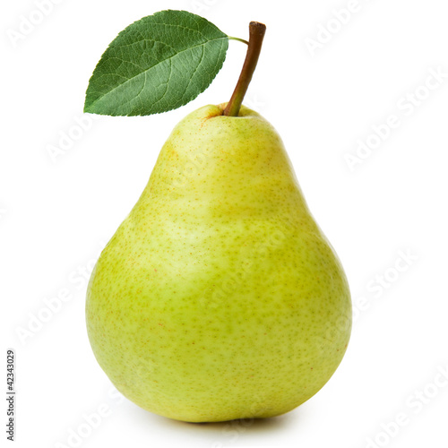 Montage in der Fensternische Fruchte pears isolated on white background