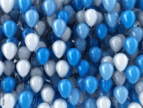 niebiesko-biale-balony