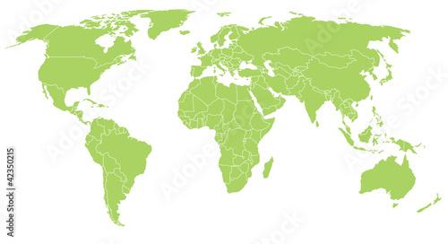 World vector map