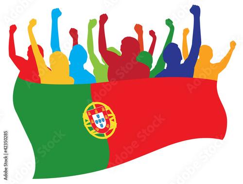 Photo  Portugal fans vector illustration