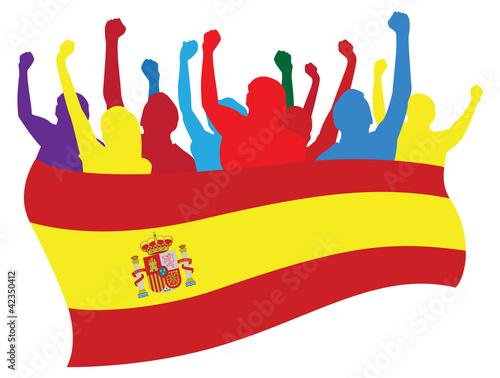 Photo  Spain fans vector illustration