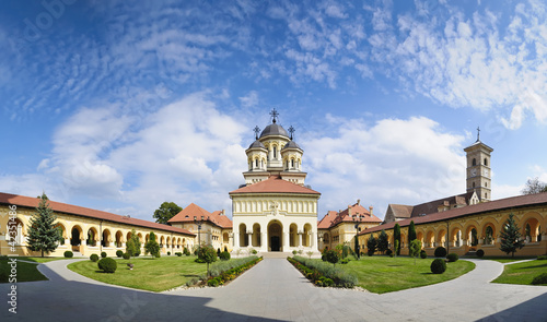 orthodox church in alba iulia, Transylvania Canvas Print