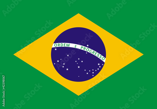 Drapeau du Brésil Tableau sur Toile