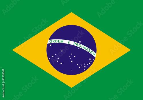 Drapeau du Brésil Fotobehang