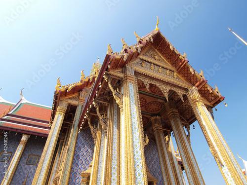 Golden pagoda in Grand Palace ,Bangkok Thailand Poster