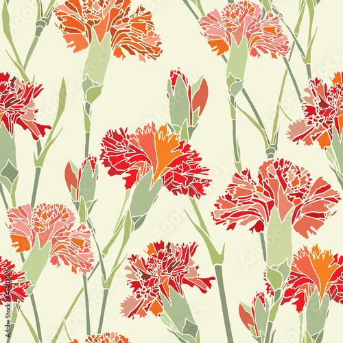 Keuken foto achterwand Abstract bloemen Бесшовный цветочный паттерн