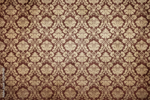 Fotografie, Obraz  Grunge stained decorative wallpaper with copy space