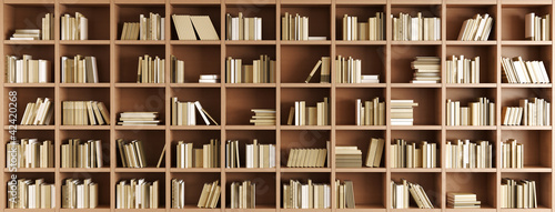 Aluminium Prints Library Bookcase