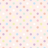 Colorful dots pink background retro seamless vector pattern - 42429605