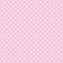 Polka Dots On Baby Pink Backgr...