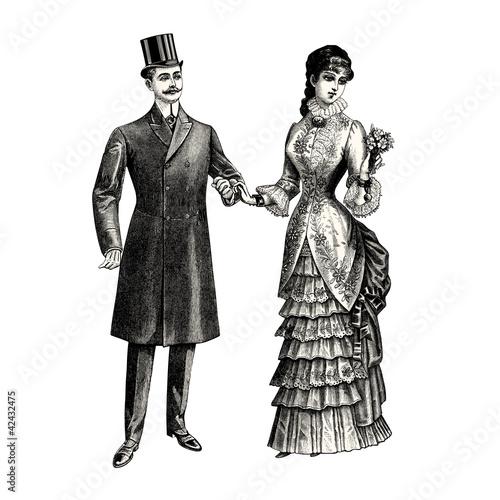 Fotografie, Obraz  Les mariés