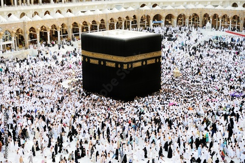 Photo  Makkah Kaaba Hajj Muslims