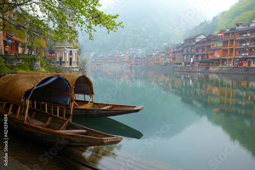 Tuinposter China Old Chinise traditional town